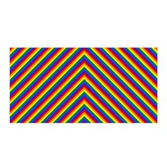 Gay Pride Flag Rainbow Chevron Stripe Satin Wrap by PodArtist