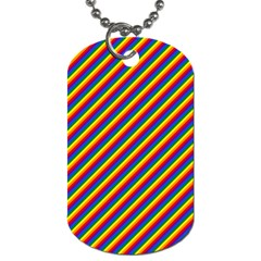 Gay Pride Flag Candy Cane Diagonal Stripe Dog Tag (two Sides) by PodArtist