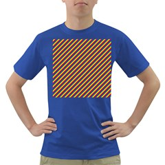 Gay Pride Flag Candy Cane Diagonal Stripe Dark T Shirt by PodArtist