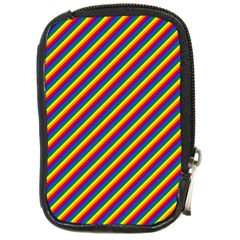 Gay Pride Flag Candy Cane Diagonal Stripe Compact Camera Cases by PodArtist