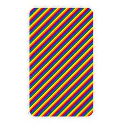 Gay Pride Flag Candy Cane Diagonal Stripe Memory Card Reader by PodArtist