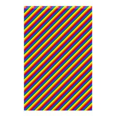 Gay Pride Flag Candy Cane Diagonal Stripe Shower Curtain 48  X 72  (small)  by PodArtist