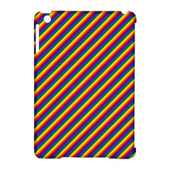 Gay Pride Flag Candy Cane Diagonal Stripe Apple Ipad Mini Hardshell Case (compatible With Smart Cover) by PodArtist