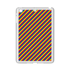 Gay Pride Flag Candy Cane Diagonal Stripe Ipad Mini 2 Enamel Coated Cases by PodArtist