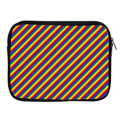 Gay Pride Flag Candy Cane Diagonal Stripe Apple Ipad 2/3/4 Zipper Cases