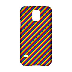 Gay Pride Flag Candy Cane Diagonal Stripe Samsung Galaxy S5 Hardshell Case  by PodArtist