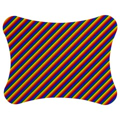 Gay Pride Flag Candy Cane Diagonal Stripe Jigsaw Puzzle Photo Stand (bow) by PodArtist