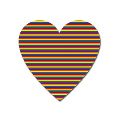 Horizontal Gay Pride Rainbow Flag Pin Stripes Heart Magnet by PodArtist