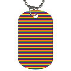 Horizontal Gay Pride Rainbow Flag Pin Stripes Dog Tag (two Sides) by PodArtist
