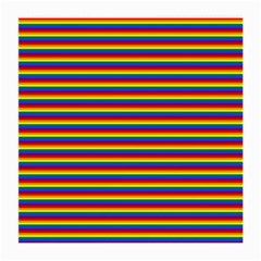 Horizontal Gay Pride Rainbow Flag Pin Stripes Medium Glasses Cloth (2 Side) by PodArtist