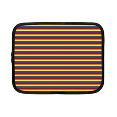 Horizontal Gay Pride Rainbow Flag Pin Stripes Netbook Case (small)  by PodArtist