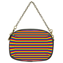 Horizontal Gay Pride Rainbow Flag Pin Stripes Chain Purses (one Side)  by PodArtist