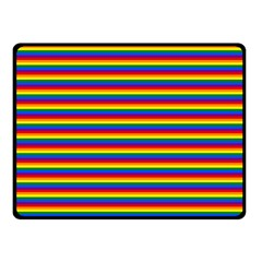 Horizontal Gay Pride Rainbow Flag Pin Stripes Fleece Blanket (small) by PodArtist
