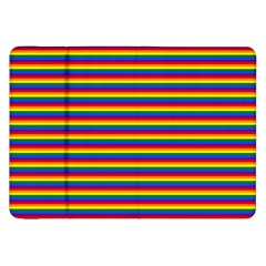 Horizontal Gay Pride Rainbow Flag Pin Stripes Samsung Galaxy Tab 8 9  P7300 Flip Case by PodArtist