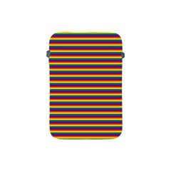Horizontal Gay Pride Rainbow Flag Pin Stripes Apple Ipad Mini Protective Soft Cases by PodArtist