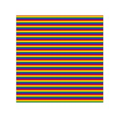 Horizontal Gay Pride Rainbow Flag Pin Stripes Small Satin Scarf (square) by PodArtist