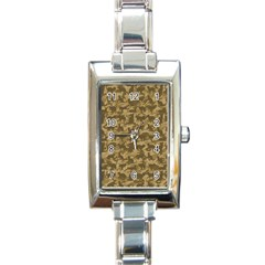 Operation Desert Cat Camouflage Catmouflage Rectangle Italian Charm Watch by PodArtist