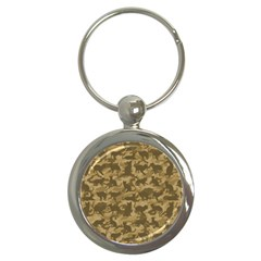 Operation Desert Cat Camouflage Catmouflage Key Chains (round)  by PodArtist