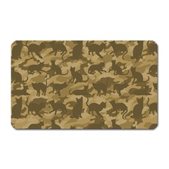 Operation Desert Cat Camouflage Catmouflage Magnet (rectangular) by PodArtist