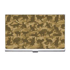 Operation Desert Cat Camouflage Catmouflage Business Card Holders by PodArtist