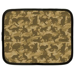 Operation Desert Cat Camouflage Catmouflage Netbook Case (xxl)  by PodArtist