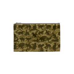 Operation Desert Cat Camouflage Catmouflage Cosmetic Bag (small)  by PodArtist