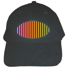 Vertical Gay Pride Rainbow Flag Pin Stripes Black Cap by PodArtist