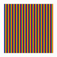 Vertical Gay Pride Rainbow Flag Pin Stripes Medium Glasses Cloth (2 Side) by PodArtist