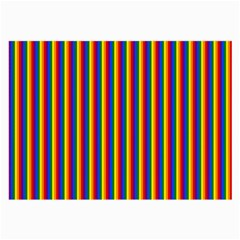 Vertical Gay Pride Rainbow Flag Pin Stripes Large Glasses Cloth (2-side) by PodArtist