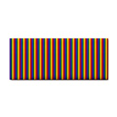 Vertical Gay Pride Rainbow Flag Pin Stripes Cosmetic Storage Cases by PodArtist