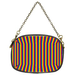 Vertical Gay Pride Rainbow Flag Pin Stripes Chain Purses (two Sides)  by PodArtist