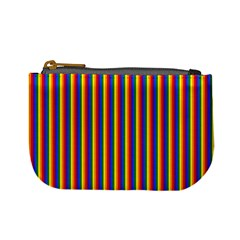 Vertical Gay Pride Rainbow Flag Pin Stripes Mini Coin Purses by PodArtist