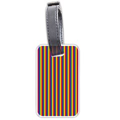 Vertical Gay Pride Rainbow Flag Pin Stripes Luggage Tags (one Side)  by PodArtist