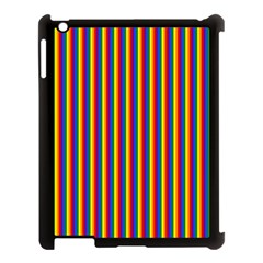 Vertical Gay Pride Rainbow Flag Pin Stripes Apple Ipad 3/4 Case (black) by PodArtist