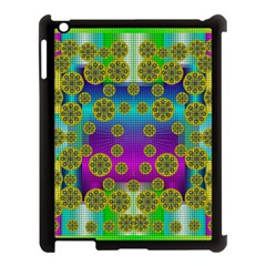 Celtic Mosaic With Wonderful Flowers Apple Ipad 3/4 Case (black) by pepitasart