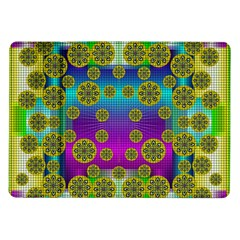 Celtic Mosaic With Wonderful Flowers Samsung Galaxy Tab 10 1  P7500 Flip Case by pepitasart