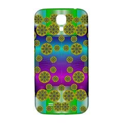 Celtic Mosaic With Wonderful Flowers Samsung Galaxy S4 I9500/i9505  Hardshell Back Case by pepitasart