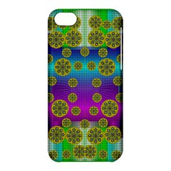 Celtic Mosaic With Wonderful Flowers Apple Iphone 5c Hardshell Case by pepitasart