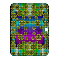 Celtic Mosaic With Wonderful Flowers Samsung Galaxy Tab 4 (10 1 ) Hardshell Case  by pepitasart