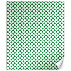 Green Shamrock Clover On White St  Patrick s Day Canvas 8  X 10  by PodArtist