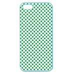 Green Shamrock Clover on White St. Patrick s Day Apple Seamless iPhone 5 Case (Color) Front