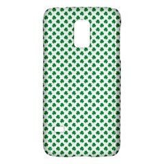 Green Shamrock Clover On White St  Patrick s Day Galaxy S5 Mini