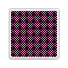 Small Hot Pink Irish Shamrock Clover On Black Memory Card Reader (square)  by PodArtist