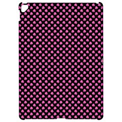 Small Hot Pink Irish Shamrock Clover On Black Apple Ipad Pro 12 9   Hardshell Case by PodArtist