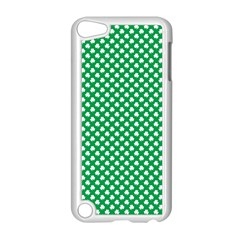 White Shamrocks On Green St  Patrick s Day Ireland Apple Ipod Touch 5 Case (white) by PodArtist