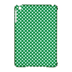 White Shamrocks On Green St  Patrick s Day Ireland Apple Ipad Mini Hardshell Case (compatible With Smart Cover) by PodArtist