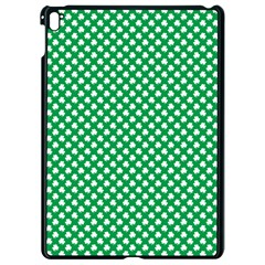 White Shamrocks On Green St  Patrick s Day Ireland Apple Ipad Pro 9 7   Black Seamless Case by PodArtist