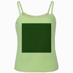 Irish Flag Green White Orange On Green St  Patrick s Day Ireland Green Spaghetti Tank by PodArtist