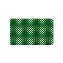 Irish Flag Green White Orange On Green St  Patrick s Day Ireland Magnet (name Card) by PodArtist
