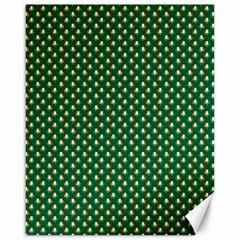 Irish Flag Green White Orange On Green St  Patrick s Day Ireland Canvas 16  X 20   by PodArtist